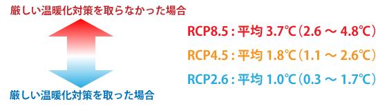図1 RCPシナリオの概要